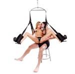 Чёрные секс-качели Spinning Fantasy Swing - фото 11246