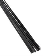 Чёрная плетка Deluxe Cat O  Nine - 62 см. - фото 11330