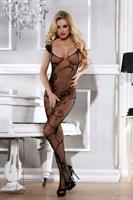 Сексуальный костюм-сетка с цветочным узором - фото 212775