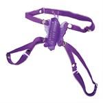 Фиолетовая вибробабочка на ремешках Micro Wireless Venus Butterfly - фото 11386