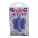 Фиолетовая вибробабочка на ремешках Micro Wireless Venus Butterfly - фото 11385