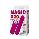 Розовая удлиненная вибропуля Magic x20 - фото 137749