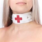 Ошейник с кольцами и красным крестом - фото 11476