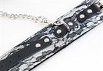 Кружевной набор серебристого цвета: ошейник и наручники - фото 213030