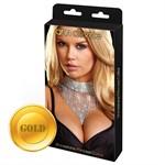 Шикарное золотистое ожерелье Queen - фото 11871