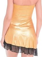 Клубное платье с надписью HUSTLER на груди - фото 213701