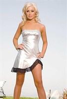 Клубное платье с надписью HUSTLER на груди - фото 213702