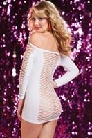 Откровенное платье в крупную сетку - фото 455107