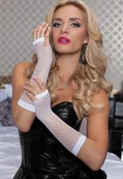Длинные ажурные перчатки - фото 12113