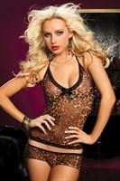 Леопардовый легкий пижамный комплект - фото 12127
