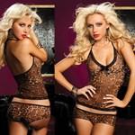 Леопардовый легкий пижамный комплект - фото 12126
