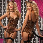 Леопардовое боди с хвостиком и ушками - фото 13708