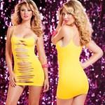 Двустороннее платье с горизонтальными вырезами - фото 1149952