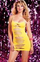 Двустороннее платье с горизонтальными вырезами - фото 1149954