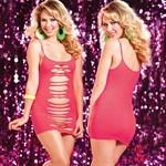 Двустороннее платье с горизонтальными вырезами - фото 1149947