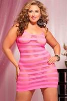 Сексуальное облегающее платье-сетка в полоску - фото 12184