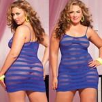 Сексуальное облегающее платье-сетка в полоску - фото 12186