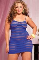 Сексуальное облегающее платье-сетка в полоску - фото 12187