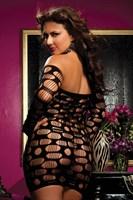 Облегающее платьице с ячейками Drive - фото 12234