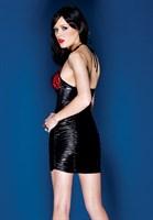 Платье с лаковой вставкой - фото 455394