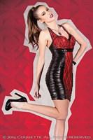 Платье с лаковой вставкой - фото 455395
