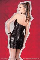 Платье с лаковой вставкой - фото 455396