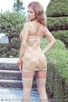Сорочка с кружевной спинкой и контрастной вставкой Sexy Terracottas - фото 12378