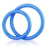 Набор из двух голубых силиконовых колец разного диаметра SILICONE COCK RING SET - фото 12474