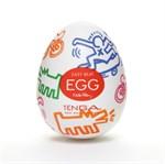 Мастурбатор-яйцо Keith Haring EGG STREET - фото 1150389