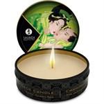 Массажная свеча Exotic Green Tea с ароматом зелёного чая - 30 мл. - фото 1654386