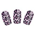 Набор лаковых полосок для ногтей Фиолетовый леопард Nail Foil - фото 183838