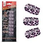 Набор лаковых полосок для ногтей Фиолетовый леопард Nail Foil - фото 183837