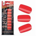 Набор лаковых полосок для ногтей Красный шик Nail Foil - фото 14584