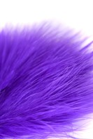 Фиолетовая пуховая щекоталка - 13 см. - фото 97218