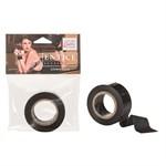 Чёрный скотч для связывания Entice Lovers Tape - фото 258948
