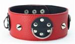 Красно-черный ошейник с шипами  - фото 1151075