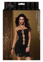 Платье с золотой  цепочкой на груди - фото 220426