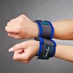Синие наручники для начинающих с застежками на липучках  - фото 1151849