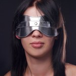 Серебристая маска на глаза - фото 1151987