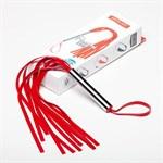 Красная латексная мини-плеть - 35 см. - фото 1151995