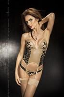 Корсет с леопардовыми вставками Greco - фото 246308