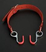 Красный кляп с крючками  Вечная улыбка  - фото 1520833