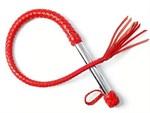 Однохвостая красная плеть с хлопушкой - 70 см. - фото 15808