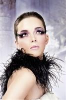 Черные асимметричные ресницы-перья - фото 563066