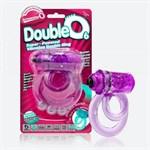Фиолетовое двойное виброкольцо со стимулятором клитора Doubleo 6 - фото 1655999