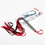 Плеть черно-красная из латекса с хвостами в виде лент - 55 см. - фото 1656121