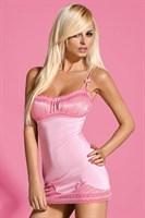 Нежно-розовая сорочка с присборенным лифом Barbiella - фото 246692