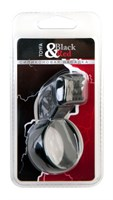 Чёрное эрекционное кольцо с клиторальным стимулятором - фото 1152548