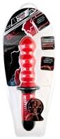 Красный фигурный вибратор с двойным мотором - 28 см. - фото 457660