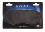 Чёрная маска на глаза BONDAGE - фото 1656524